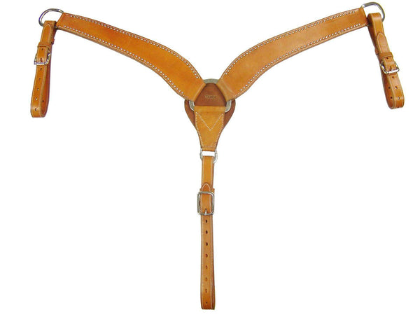 Tahoe High Country Breast Collar with Spots USA Leather - Tack Wholesale