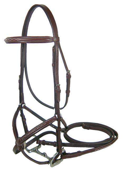 Paris Tack Premium Figure 8 Jumper Bridle with Rubber Reins - Tack Wholesale