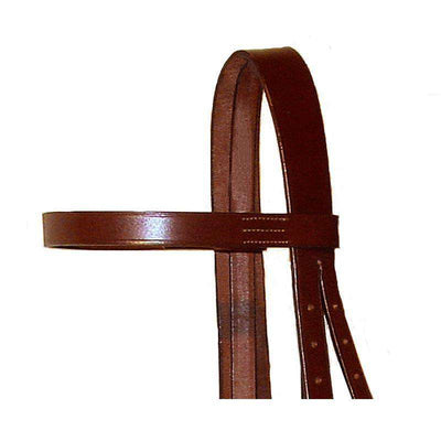 Paris Tack Classic Flat Leather English Hunt Bridle with Laced Reins, Available in Multiple Colors & Sizes