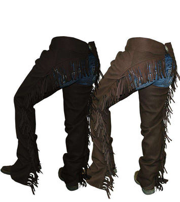 Tahoe Amara Suede Show Full Chaps with Fringes