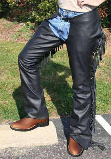 Tahoe Smooth USA Leather Show Chaps - Tack Wholesale