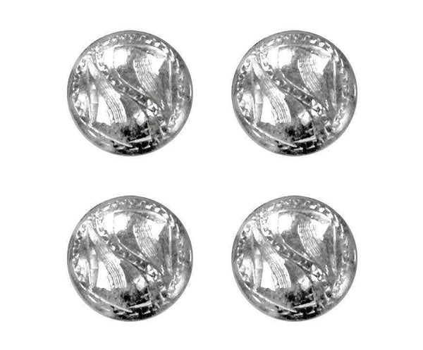Brass Silver Round Concho with Screw Back - Lot of 4 - Tack Wholesale