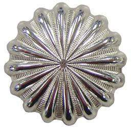 Shiny Silver Parachute Conchos with Screw Back - Tack Wholesale