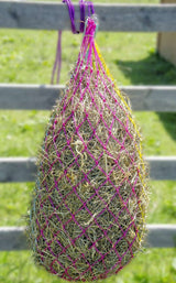 "Derby Cotton Candy Nylon Slow Feed Hay Net with Tough Reinforcement Rings 42"" - Tack Wholesale"