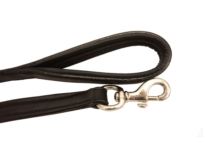 Designer Series Diamond Shaped Studs Dog Leash with Padded Handle - USA Leather