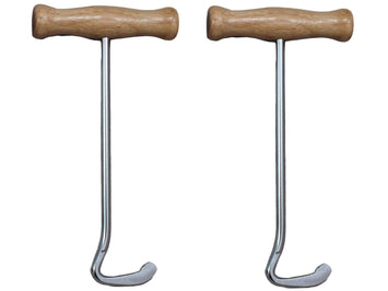 Derby Boot Pulls with Wood Handles Pair - Tack Wholesale