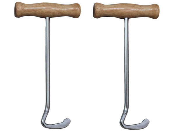 Derby Boot Pull Hooks with Wood Handles Pair - Tack Wholesale