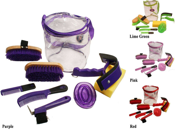 Derby Deluxe 9 Item Horse Grooming Kit - Tack Wholesale