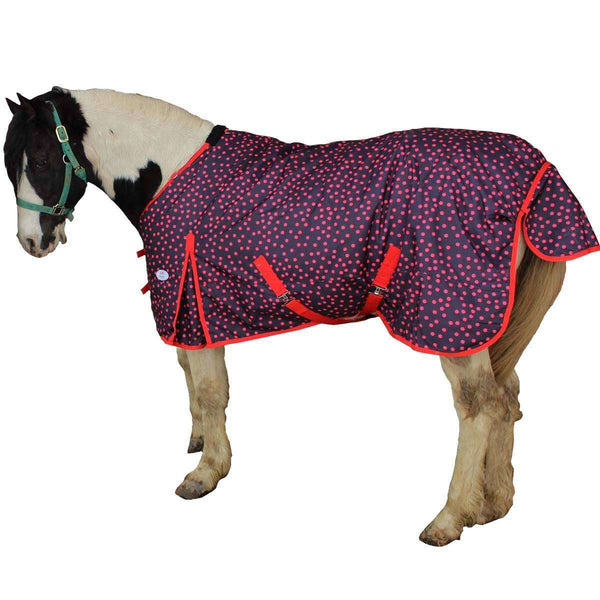 Derby Originals 600D Ripstop Nylon Ladybug Polka Dot Waterproof Medium Weight Winter Turnout Horse Blanket - Tack Wholesale