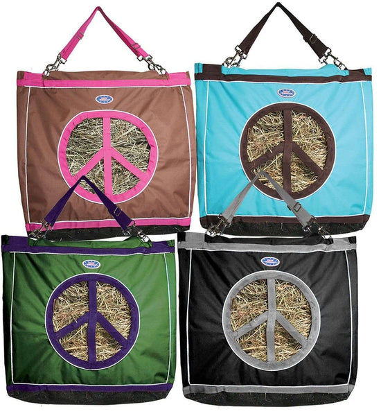 Derby Reflective Top Load Hay Bags with Peace Sign Opening