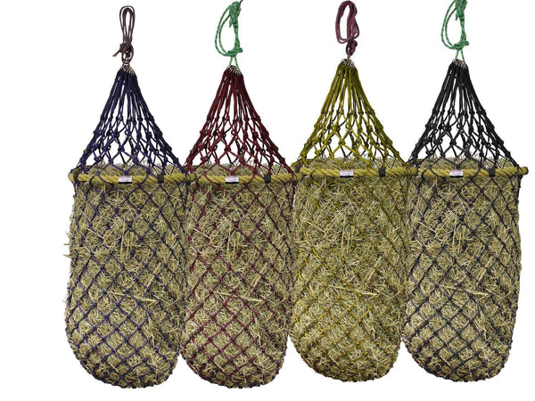 "Derby Originals Quik-Fil 48"" Slow Feed Poly Rope Hanging Hay Net with 2x2"" Holes"