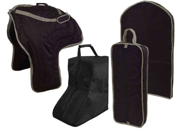 Tahoe Western Saddle, Boot, Bridle and Garment Carry Bag Set - Tack Wholesale