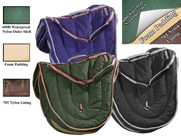 Derby Originals All Purpose 3 Layer Nylon Padded English Saddle Carry Bag