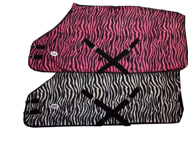 Zebra Print Fleece Sheet Or Blanket Liner Closeout - Tack Wholesale
