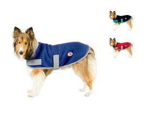 CuteNfuzzy All Purpose Fleece Lounger Warm Dog Sweater, Use as Indoor Blanket or Outdoor Coat, Great for Senior Dogs, All Sizes Available