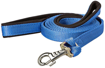 Nylon Padded Double Handle Dog Leash Warranted Replaceable Snap 1