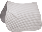 Derby Originals Traditional Diamond Quilted White Dressage Saddle Pad