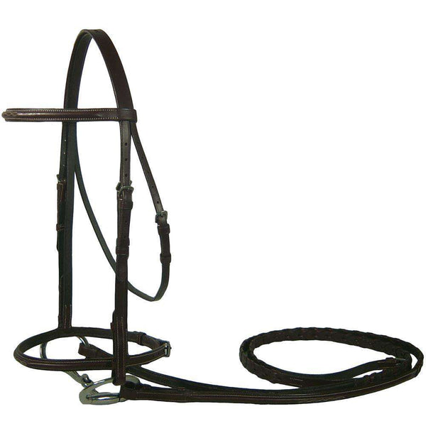 Premium Fancy Stitched Bridles w Laced Reins by Derby Originals