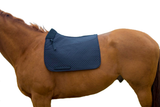 Derby Originals Semi Fleece Lined English Dressage Saddle Pad with Rolled Fleece