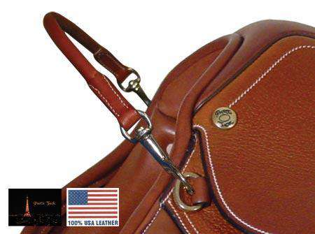 American Leather Rolled English Grab Strap with Snaps - Tack Wholesale