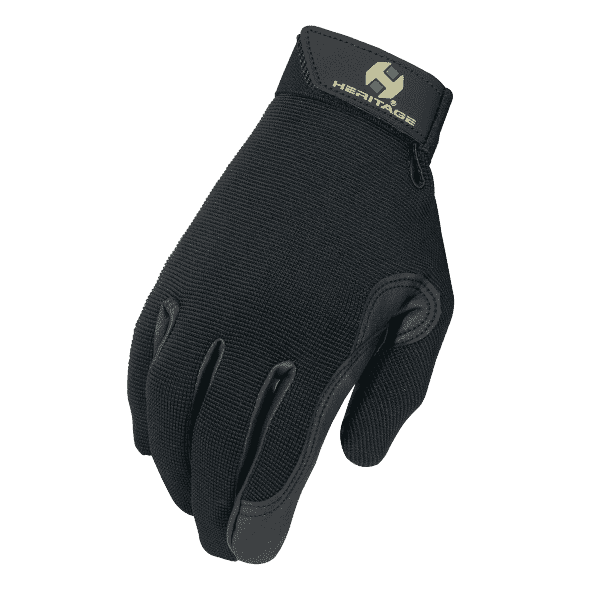 Heritage Gloves Performance Horse Riding Gloves Solid Color