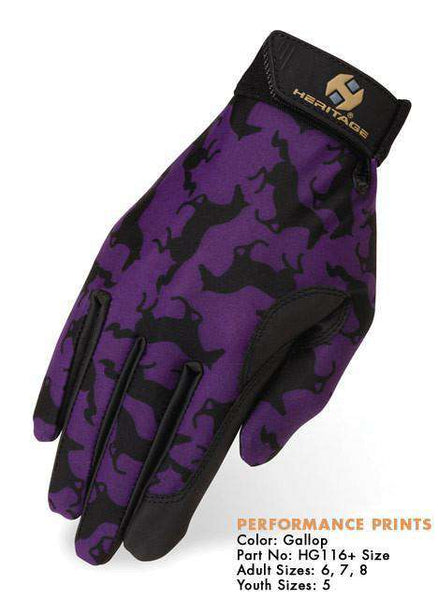 Heritage Performance Horse Riding Gloves Gallop - Tack Wholesale