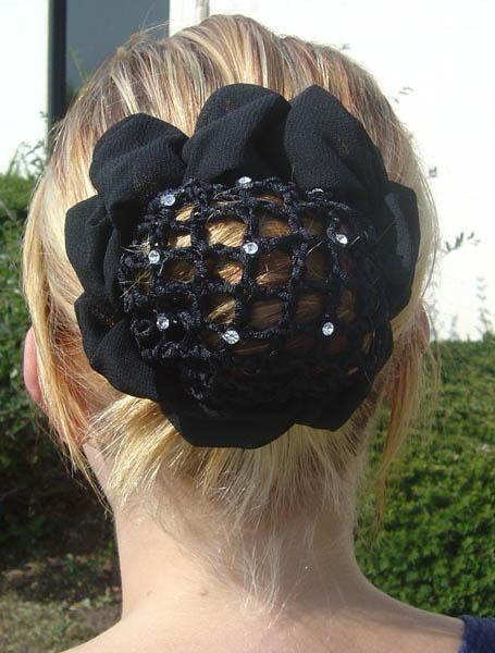Show Hair Bun With Sparkling Crystals - Close Out Sale - Tack Wholesale