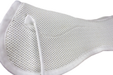 Derby Originals Shock Absorbing White English Half Saddle Pad with Anti Slip 3D Breathable Mesh