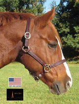 Paris Tack 5 Way Adjustable English Show Halters - USA Leather
