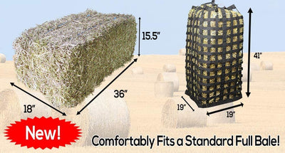 Derby Originals XL Go Around Slow Feed Hay Bag with 1 Year Warranty and Patented Four Sided Design