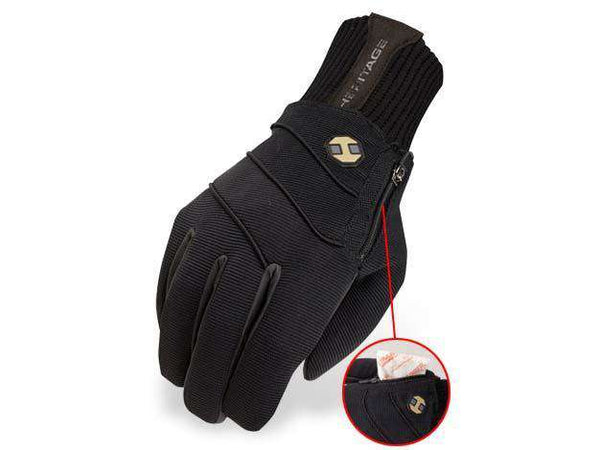 Heritage Extreme Winter Horse Riding Gloves Black - Tack Wholesale