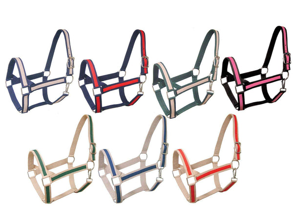 Derby Originals Triple Layer Two-Tone Nylon Draft and Horse Halters