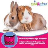 CuteNfuzzy Large Hay Bag for Rabbits and Guinea Pigs with 6 Month Warranty 15x15x5""
