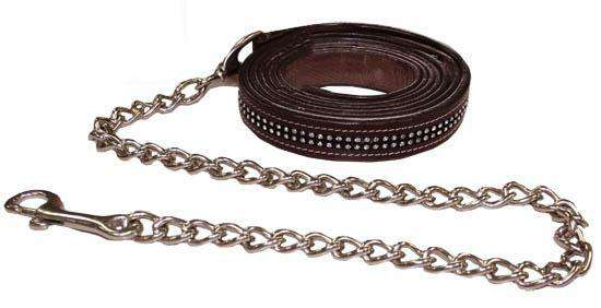 Matching Leather Lead for Paris Tack Halter w/ Rhinestones - Tack Wholesale