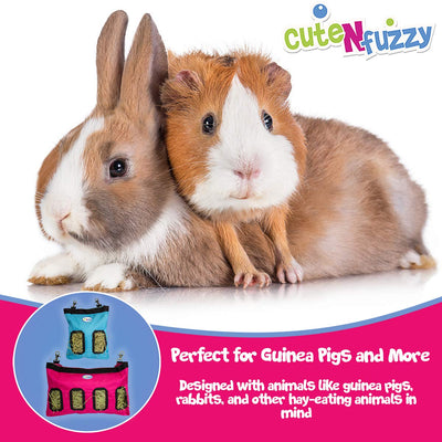 CuteNfuzzy Small Pet Medium Hay Bag for Guinea Pigs and Rabbits with 6 Month Warranty 18x11x1.5""