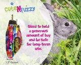 CuteNfuzzy Medium Hay Bag for Guinea Pigs and Rabbits with 6 Month Warranty 18x11x1.5""