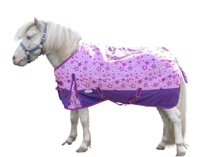 Derby Originals 600D Shimmering Star Ripstop Waterproof Nylon Medium Weight Mini Horse and Pony Turnout Blanket