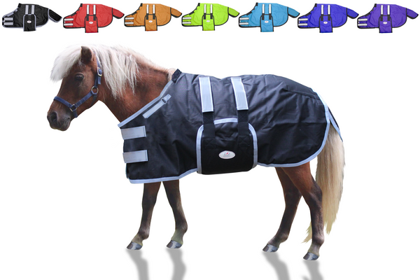 Derby Originals Reflective Safety No Hardware Winter Foal Turnout Blanket 600D Medium Weight 150g
