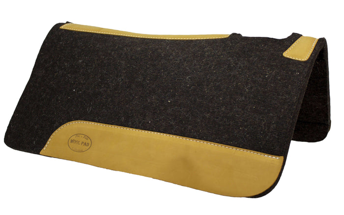 Mustang Heavy Weight 100% Wool Contoured Western Saddle Pad