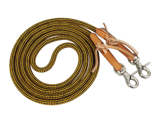 Tahoe Tack Nylon Barrel Reins with USA Leather Ends