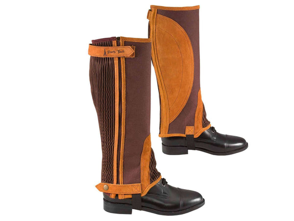 Paris Tack Canvas & Suede Leather Half Chaps