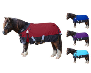 Derby Originals Nordic-Tough 600D Medium Weight Reflective Waterproof Winter Mini Horse Pony Turnout Blanket 200g with 1 Year Warranty