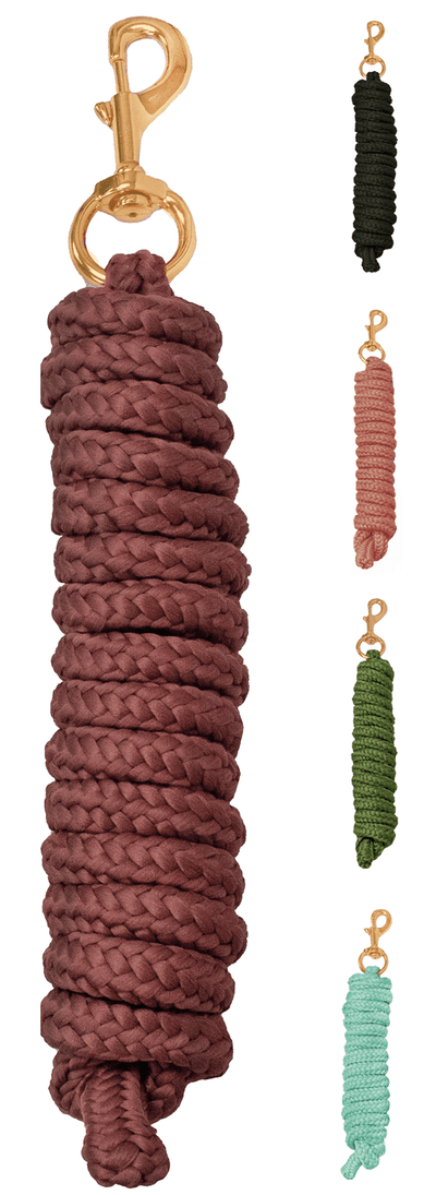 Derby Originals Premium Soft Braided Poly Lead Rope - Available in Multiple Colors and Sizes