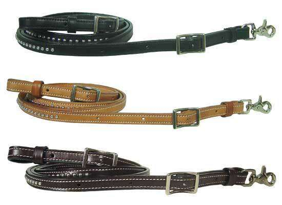 Tahoe Barrel Reins with Spots - USA Leather