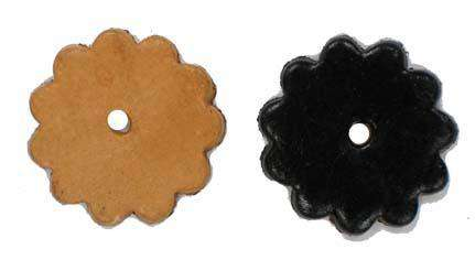 Leather Rosettes 1.5 inch Lot of 5 - Last Piece - Tack Wholesale