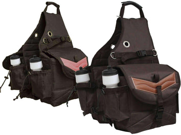 Tahoe Multi Pocket Saddle Bag for Trail Riding Waterproof Nylon - Tack Wholesale