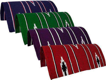 Pony Navajo Design Acrylic Saddle Blankets - 26