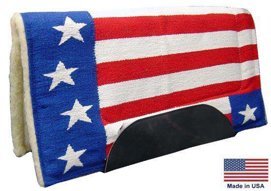 Woven Patriotic Saddle Pad with Fleece Lining