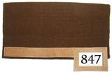 "Tahoe Tack Heavy-Duty New Zealand Wool Showring Western Saddle Pad with Leather Wears and Number Slot 36"" x 34"""