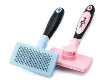 CuteNfuzzy Self Cleaning Pet Slicker Brush